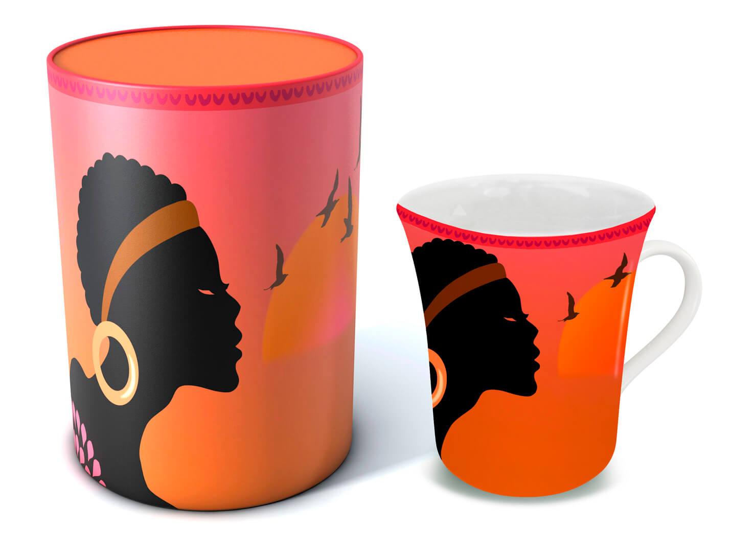 Afrika und passende Verpackung